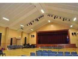 Supacoustic PLK acoustic panels used in award winning multi-purpose hall