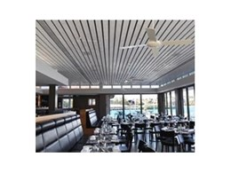 Supaslat Driftwood ceiling panels from Supawood Architectural Lining Systems used in restoration of heritage Manly building