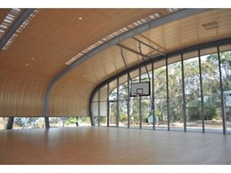 Supawood's prefinished acoustic curved ceiling panel systems solve problems for remote site on Hawkesbury River