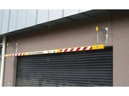 Suspended height bars for height restricted areas, from Barrier Group