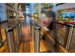 Swinglane security entrance barrier systems by Record Automated Doors