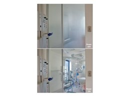 Switchable privacy glass for Hospitals available from Record Automated Doors