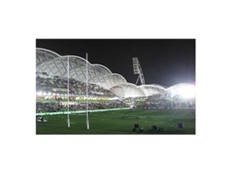 Synthetic grass perimeter run off from TigerTurf used at AAMI Park in Melbourne