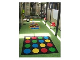 TPV rubber wetpour from Synthetic Grass & Rubber Surfaces used at Shadforth Cottage