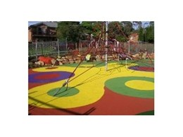 TPV rubber wetpour safety surfacing from Synthetic Grass and Rubber Surfaces