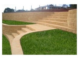 Tasman retaining walls available from Baines Masonry Blocks