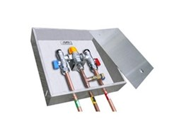 Tempering valves from All Valve Industries now available in a lockable stainless steel recessed box