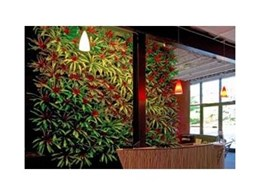 TerraScreen vertical green walls available from Moodie Outdoor Products