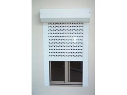 The Australian Trellis Door Company's RS4 extruded slat roller shutter