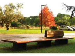 The Comunitario public seat available from Landmark Products