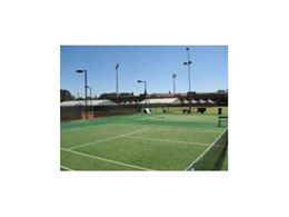 TigerTurf's commercial Grand Prix synthetic tennis surface installed at South Australian tennis headquarters