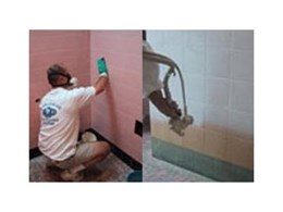 Tile resurfacing services offered by Worldwide Refinishing Systems