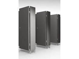 Toilet Partitions series available from Maxton Fox Furniture Systems
