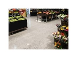 Transitions mechanically polished concrete floors installed in new supermarket on the Gold Coast