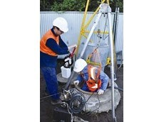 Tripod and recovery system hired from Kennards Lift & Shift for sewer project