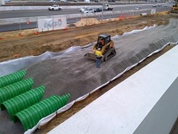 Triton stormwater arches supplied by Novaplas to build infiltration tank