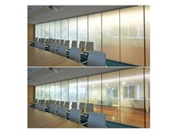 UMU switchable privacy glass from Record Automated Doors installed at the Attorney General's building in Canberra