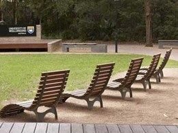 Unisite seats and table settings make the outdoors more enjoyable at The University of Wollongong