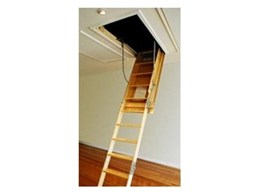 Upgrade fold down stairs available from Attic Ladders