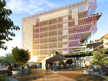 A render of UQ's Sustainable Futures Building