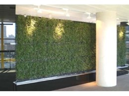 VGM green wall modules by Elmich Australia installed at Fujitsu headquarters in Melbourne