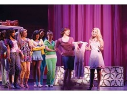 Vari*Lite moving lights and ETC light fixtures perform at Legally Blonde production