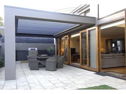 Vergola louvered pergola roofing systems create welcoming outdoor areas regardless of weather
