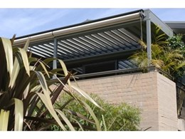 Vergola louvre roof system installed in beachside apartment