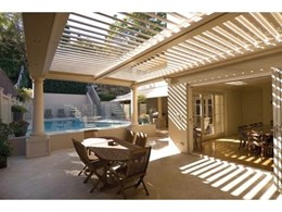 Vergola outdoor roofing systems to be showcased at designEX 2010
