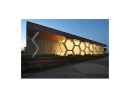 Viridian glass at Caroline Springs Library and Civic Centre