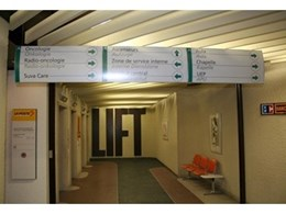 Vista System complete wayfinding solutions recently installed at L'Hopital Sion Hospital in Switzerland