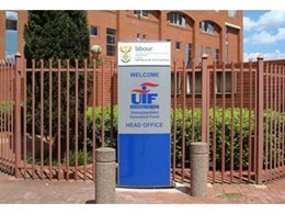 Vista System customises branded corporate signs for UIF head office in South Africa