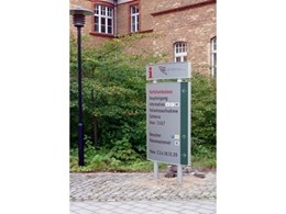 Vista System's multifunctional exterior signage solutions installed at German hospital clinic