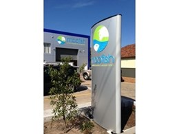 Vista System's sleek design signage solutions installed at Moofish HQ in Mascot, NSW