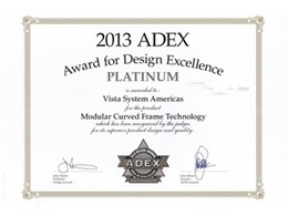 Vista System wins prestigious 2013 Platinum ADEX Award for design excellence
