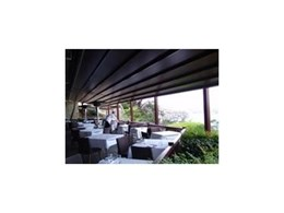 Viva Sunscreens Alutecnic Retractable Roof Systems installed at The Gunners Tea Rooms