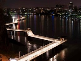 WE-EF low wattage LED luminaires illuminate New Farm Riverwalk, QLD