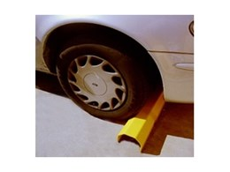 Wheelgard vehicle wheel stops available from Armco Barriers