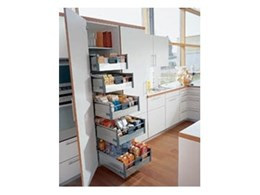 Wonderful Kitchens offers larder units with pull out drawers for improved provision storage