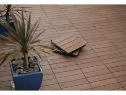 Wood composite DIY deck tiles available from Futurewood