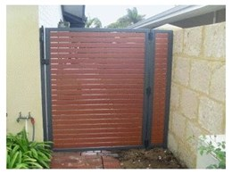 Wood look aluminium slat from Affordable Fencing