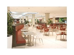 botton + gardiner complete food court furniture fit out at Top Ryde City food court