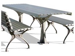 botton + gardiner urban furniture announces Urban park benches