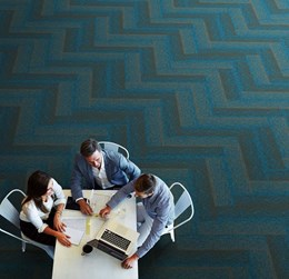 EcoSoft Carpet tiles for twice the acoustic sound absorption