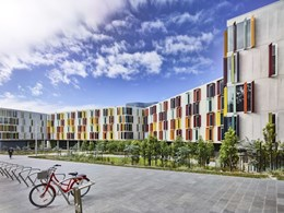Colour coatings are key for award winning Monash University student accommodation