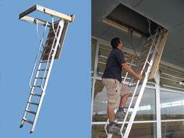 Ceiling and storage access solutions from AM-BOSS Access Ladders
