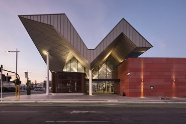 Christchurch Bus Interchange/Whakawhitinga Pahi, Christchurch by Architectus. Photography by Simon Devitt