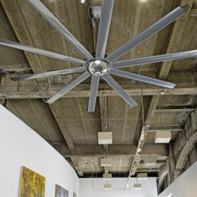 Element™ by Big Ass Fans®, the industrial fan reinvented for commercial spaces