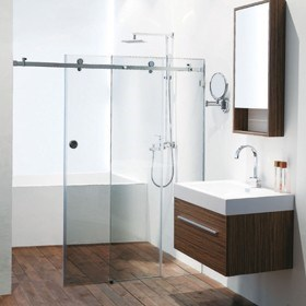 OPTO Shower, Frameless Sliding Shower System