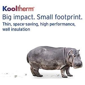 Thin, Space-Saving, High Performance, Wall Insulation